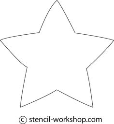 star stencil | made many variety of Star stencils, if you require more star stencils ...