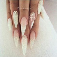 really love the white glitter french fade