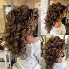 Haircut Long Medium Length Hair Cuts For Women Quince Hairstyles, Wedding Hairstyles For Long Hair, Wedding Hair And Makeup, Formal Hairstyles, Bride Hairstyles, Bridal Hair, Cool Hairstyles, Hairstyle Wedding, Easy Hairstyle