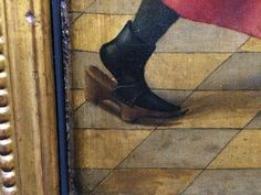 Patten, 15th century, Unhinged with front strap only..: