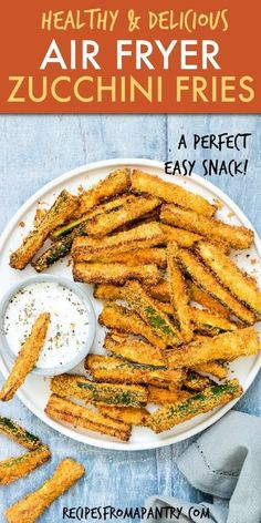Air Fryer Zucchini Fries are the perfect starter, side dish or snack! This crav … – Food – Air Fryer Zucchini Fries are the perfect starter, side dish or snack! This crav … – Food – Air Fryer Oven Recipes, Air Frier Recipes, Air Fryer Dinner Recipes, Air Fryer Recipes Potatoes, Air Fryer Recipes Vegetables, Recipes Dinner, Ww Recipes, Low Carb Recipes, Cooking Recipes