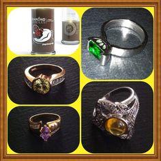 My multi colored rings @diamondcandles