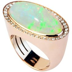 7.79cts Opal and Diamond Ring