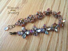 Topaz Shine Perky Pips Bracelet by Sam Wescott (Pattern Available)