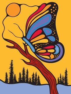 By Mark Anthony Jacobson Inuit Kunst, Inuit Art, Claudia Tremblay, Kunst Der Aborigines, Aboriginal Artwork, Woodland Art, Haida Art, Butterfly Painting, Native American Artists