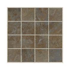 American Olean 12-in x 12-in Regent Mosaics Green Ceramic Mosaic Floor Tile