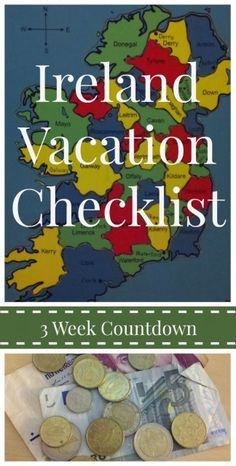 You've planned everything. It's almost time to leave for your Ireland vacation. Use this three week countdown travel checklist and get ready for Ireland!