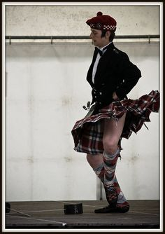 Dancer in kilt