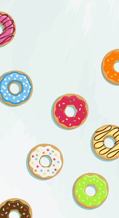 Donuts ★ Find more Funky Patterns for your #iPhone + #Android @prettywallpaper