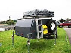 Resultado de imagen para off road camper trailer fabrication Off Road Camping, Camping Set Up, Jeep Camping, Pickup Camper, Camper Trailers, 4x4, Truck Tent, Truck Canopy, Motorhome
