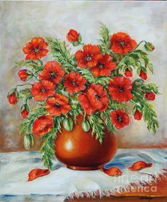 poppies | Poppies Painting by Mimoza Oronova - Poppies Fine Art Prints and ...