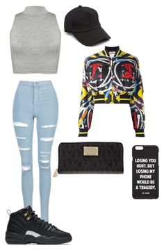 """16"" by manii13k on Polyvore featuring rag & bone, WearAll, Topshop, NIKE, Moschino, Jac Vanek and Michael Kors"