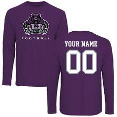 Central Arkansas Bears Personalized Football Long Sleeve T-Shirt - Purple - $42.99