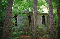 Church in woods