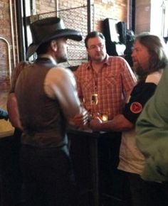Brian and Todd talk with Tim McGraw at Party