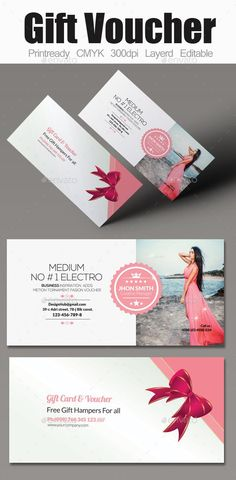 Gift voucher template with colorful pattern cute gift for Cute gift certificate template free