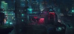 Barcelona Smoke & Neons: Eixample, Guillem H. Pongiluppi on ArtStation at https://www.artstation.com/artwork/barcelona-smoke-neons-eixample