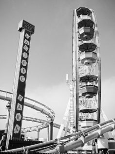 Pacific Park Amusements by Robert Meyers-Lussier Park Photography, Santa Monica, Golden Gate Bridge, Ship, Travel, Viajes, Ships, Destinations, Traveling