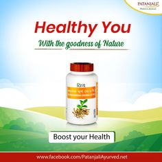 Healthy You with the power of Nature!! Ashwagandha helps to boost your health and treat various health problems. Its antioxidant properties helps to improve bone health, increase muscle strength and boost your immunity. #PatanjaliProducts #AyurvedaLifestyle #Ashwagandha - Patanjali Products  IMAGES, GIF, ANIMATED GIF, WALLPAPER, STICKER FOR WHATSAPP & FACEBOOK