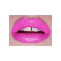 hair, nails, and makeup <3 all my favorite things / Hot pink lips via Polyvore