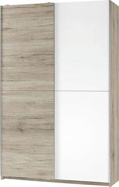 Dieser Schrank von CARRYHOME ist vielseitig einsetzbar! Ob im Büro, Schlaf- oder Kinderzimmer: Dieser Mehrzweckschrank erfüllt Ihre Ansprüche. Mit insgesamt 6 Einlegeböden und einer ausziehbaren Teleskopkleiderstange bietet das Möbel perfekt Platz für Kleidung, Bücher, Schuhe oder Büroartikel. Das schlichte Design aus einer hochwertigen Flachpressplatte in Weiß und Eichefarben hält sich dezent zurück. Dieser Schrank wird Ihnen gefallen!