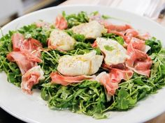 Get Arugula With Proscuitto And Burrata Recipe from Food Network