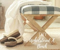 This DIY upholstered X bench has great step by step instructions! I promise, if I can do it, anyone can! Try this for your next DIY project.