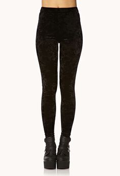 Poetic Velveteen High-Waisted Leggings | FOREVER21 - 2000127944 #ForeverHoliday