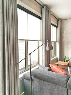 Room, Roller Shades, Curtains Living Room, Living Room Modern, New Living Room, Budget Blinds, Solar Shades Living Room, Blinds, Mid Century Modern Living Room
