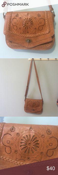ASOS Laser Cut Crossbody Handbag Man made materials - medium sized crossbody purse with interior zipper compartment ASOS Bags Crossbody Bags