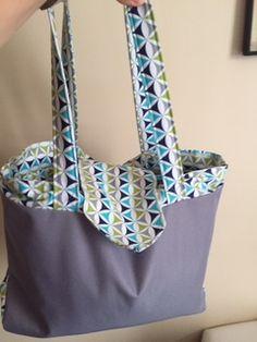 Un sac Grand Madison cousu par Marion - Patron de couture Sacôtin