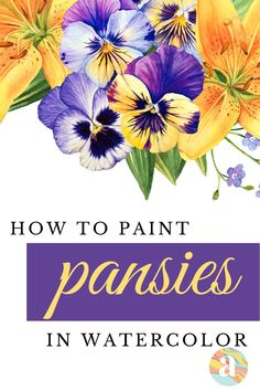 Learning how to paint flowers in watercolor is very fun and this is the step by step guide for you that will help you do just that. Learn Watercolor Painting, Watercolor Beginner, Watercolor Art Lessons, Watercolor Paintings For Beginners, Watercolor Bird, Watercolor Artists, Watercolor Portraits, Watercolor Landscape, Paint Flowers
