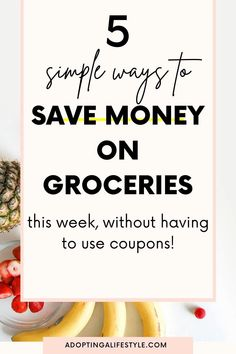 5 simple ways to save money on groceries this week WITHOUT having to use coupons! These are the 5 best ways to save money on food and fix your grocery budget. | how to save money on groceries | ways to save money | grocery saving hacks | #savemoney #moneysavingtips #grocerybudget #saveongroceries Money Saving Meals, Save Money On Groceries, Ways To Save Money, How To Get Money, Money Tips, Rebate Apps, Cash Envelope System, Saving For College, Finance Blog