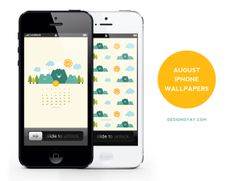 Free Download August iPhone Wallpaper Calendar by Design is Yay