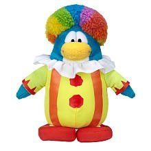 Disney Club Penguin 6.5 Inch Series 15 Plush Figure Clown Includes Coin with Code! | Toys Central