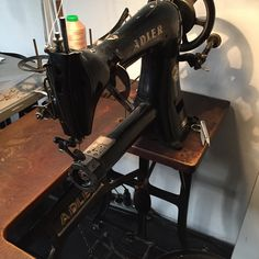 Adler 48-7 cylinder arm sewing machine, roller foot @studiorowold #rowold…
