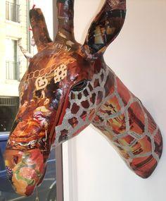 Papier Mache Sculpture | Nicole Jacobs & Aude Goalec : Un zoo de papier maché envahit le monde ...