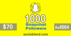 Now buy 1000 #Snapchat #Followers for $70 (Rs.4664) https://socioblend.com/buy-snapchat-followers-scores #Socioblend