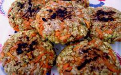 Hamburguer de Cenoura (Opção também Vegetariana)