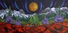 K Neil Swanson CANMORE VALLEY MOON Canada House, Moon, Gallery, Artwork, Painting, Inspiration, Ideas, Work Of Art, Biblical Inspiration