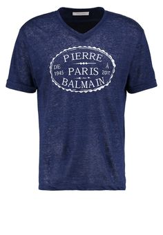 Pierre Balmain TShirt print navy blue Premium bei Zalando.de | Material Oberstoff: 100% Leinen | Premium jetzt versandkostenfrei bei Zalando.de bestellen!