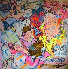 "Saatchi Art Artist: hermes berrio; Acrylic 2013 Painting ""forever gangster"""