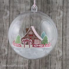 life outside the lines by Beckynoelle: Gingerbread House Ornament