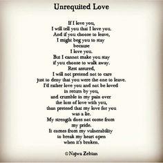 Unrequited Love -- Najwa Zebian