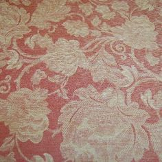 **NEW IN** END ROLL DEAL 2.6M'S oversize floral chenille in muted red and burnished gold, for door curtains etc.