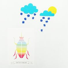 Don't let the rain bug you... it is just confetti from the sky!