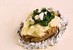 Spinach and Feta Stuffed Baked Potato — Miracle Meals