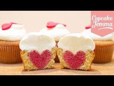 ▶ How to Bake a Heart Inside a Cupcake | Cupcake Jemma - YouTube