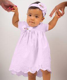 Look what I found on #zulily! Violet Avery Eyelet Dress & Headband - Infant by Truffles Ruffles #zulilyfinds