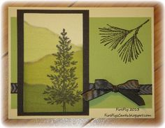 FireFly's Cards by Sierra Stamper: Clean and Simple Tree
